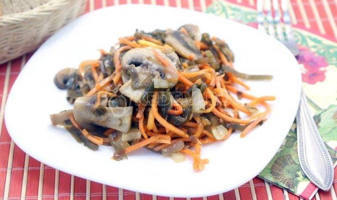 Салаты из рыбы с орехами