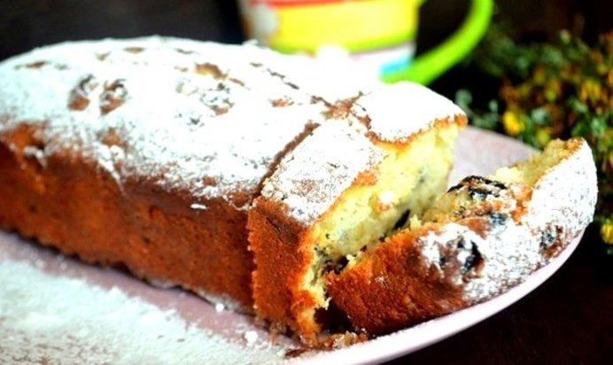 Кекс творожный с изюмом в духовке рецепт с пошагово