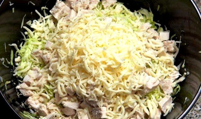 Салаты с курицей и капустой белокочанной рецепты