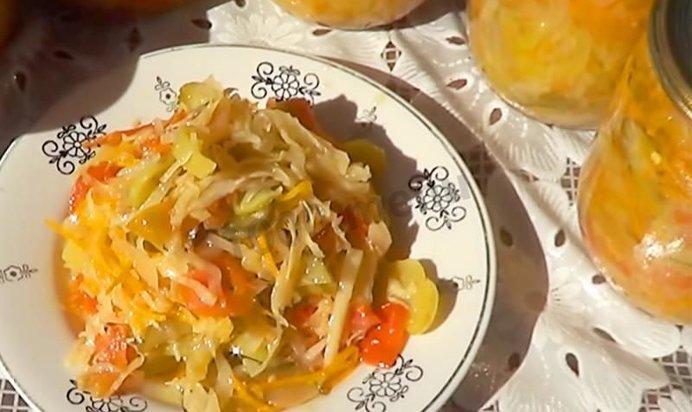 салат капуста помидоры огурцы на зиму