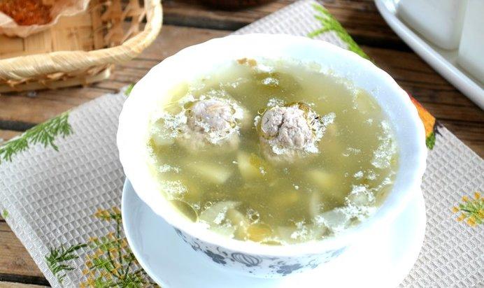 Суп с щавелем и фрикадельками рецепт пошагово
