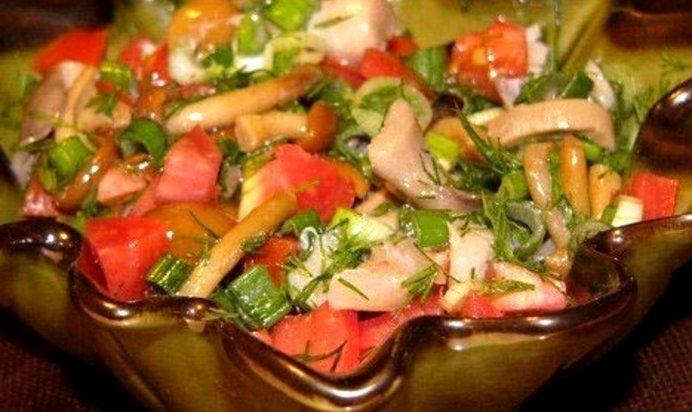 Салат с лесными грибами с фото