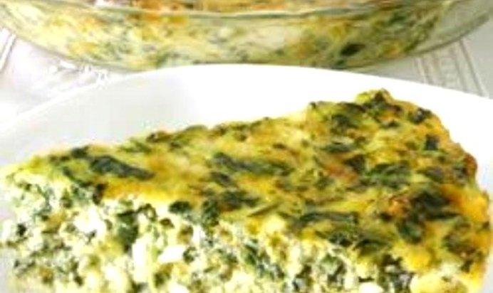 Творожная запеканка с сыром и зеленью