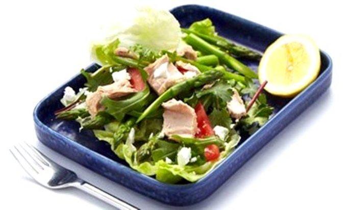 Салат из тунца рецепт пп с