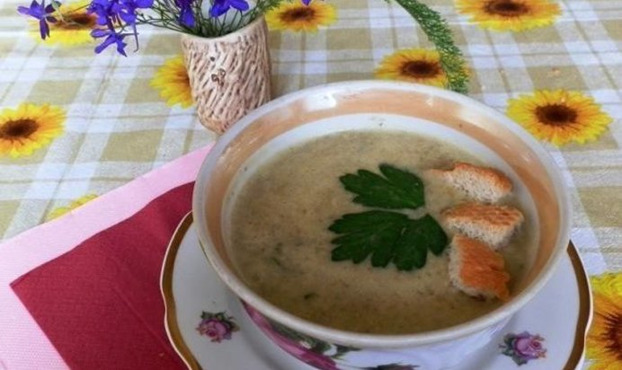 Суп пюре с шампиньонами рецепт пошагово с