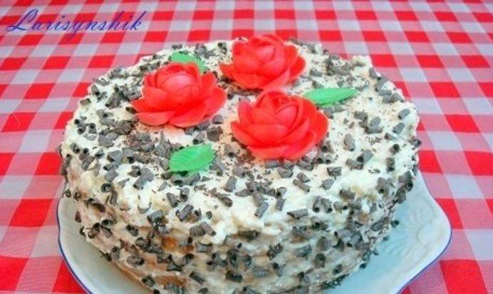Торт в домашних условиях пошаговый рецепт с сметанный