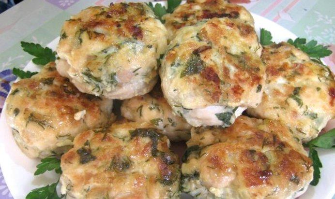 Котлеты из куриного филе рубленные с сыром и зеленью рецепт пошагово