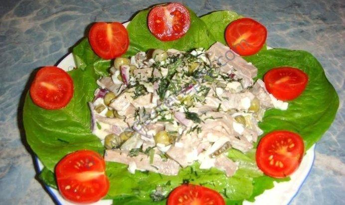 салат языка рецепты с фото простые