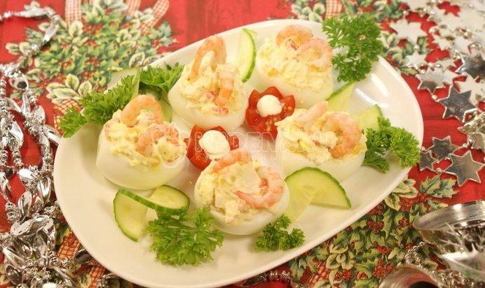 Рецепты закусок из фаршированных яиц