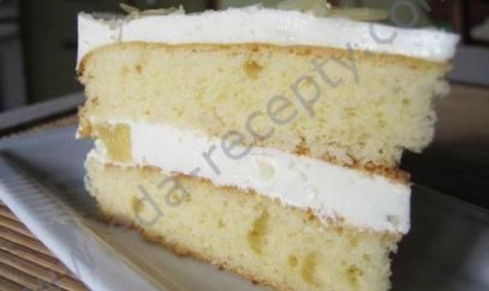 Рецепт бисквитного торта со сметанным кремом