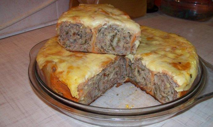 Пирог из фарша в духовке рецепт