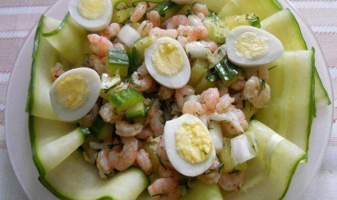 Китайский салат с креветками рецепты