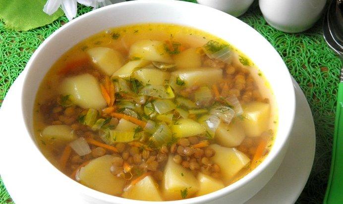 Суп из чечевицы постный рецепт с пошагово