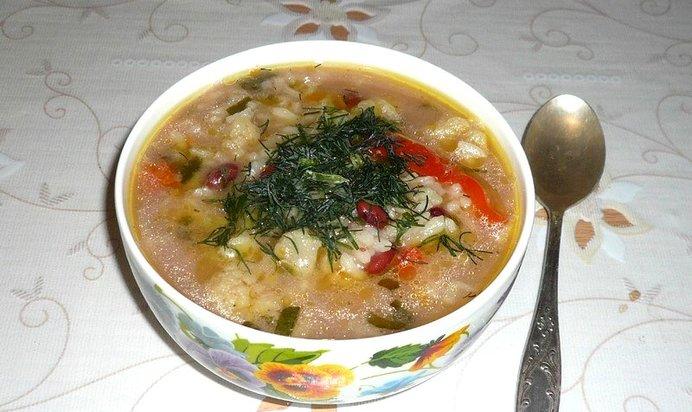Суп с фасолью красной консервированной рецепты пошагово