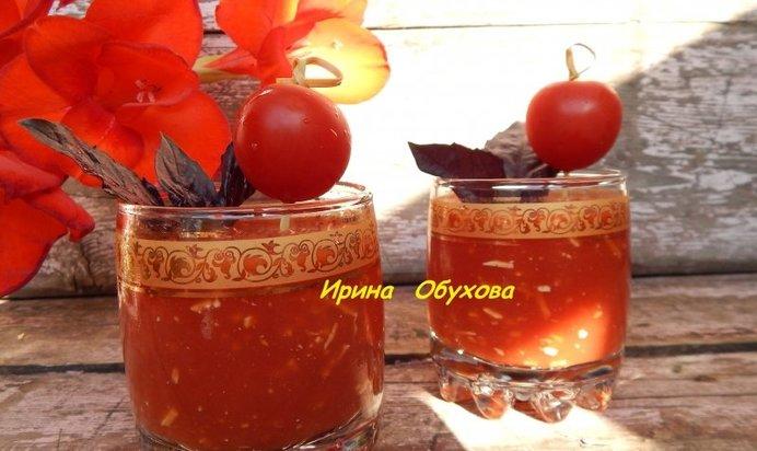 Простой Рецепт томатного сока с сыром и чесноком пошагово с фото