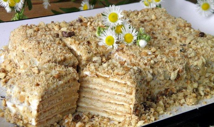 Торт без выпечки из печенья видео рецепт