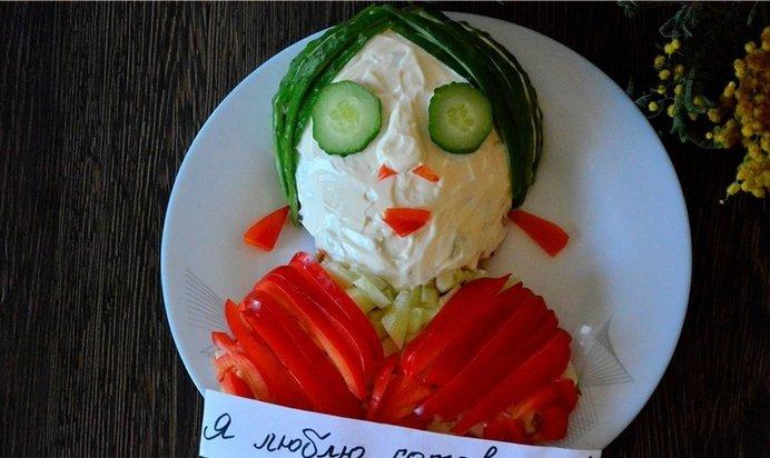 Смешная картинка салат, поздравления