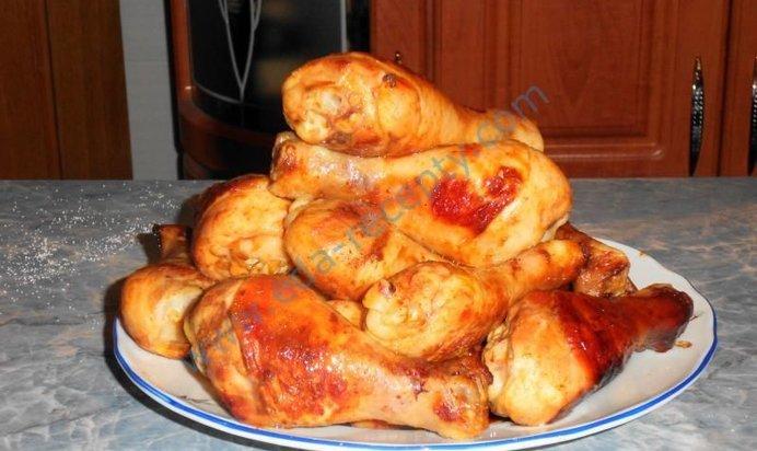 Курица в сметане запеченная в духовке рецепт с пошагово