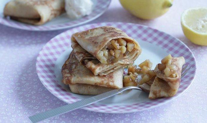 блины фаршированные яблоками рецепт с фото