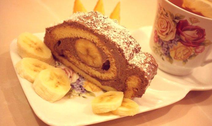 банановый рулет рецепт с фото