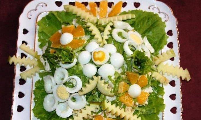 Легкий салат для романтического ужина рецепт пошагово