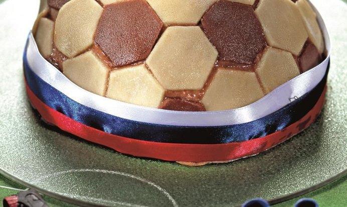 Как сделать торт футбольный мяч своими руками 43