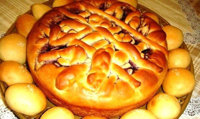 Постный пирог с вареньем рецепт с фото