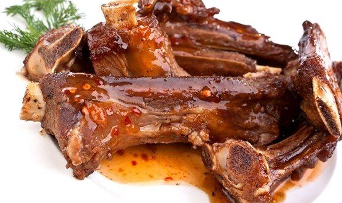 Говяжьи ребра с грибами в духовке рецепт