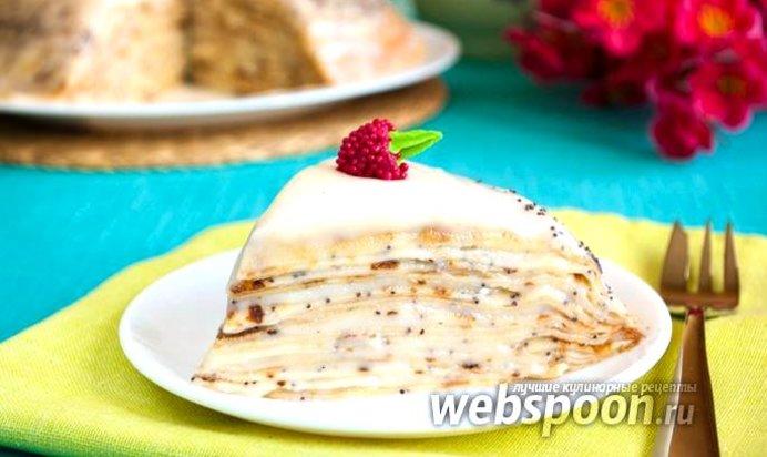 Блинный пирог сладкий рецепт