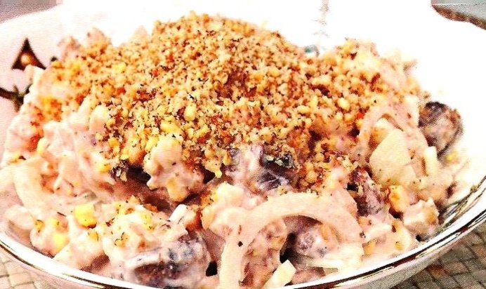 Салат рецепт с с курицей с грецкими орехами и виноградом