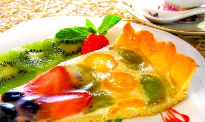 Пироги с фруктами с желе рецепты