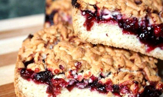 Открытый пирог с вареньем рецепт с песочное