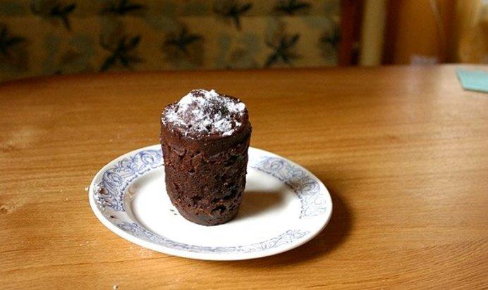Фото как сделать кекс в микроволновке