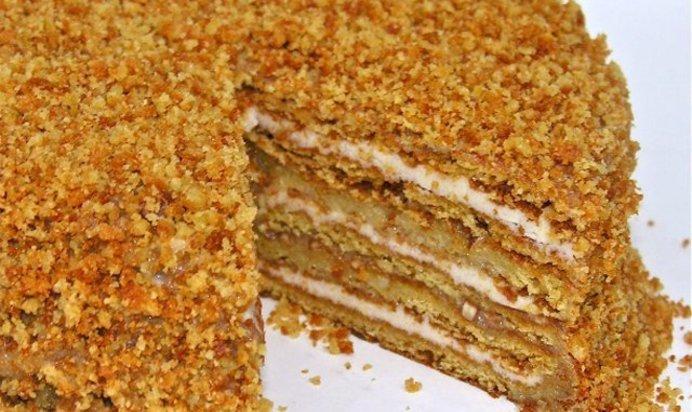 Пошаговый рецепт с медового торта