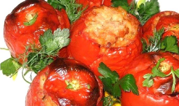 Запеченные помидоры с фаршем рецепт с пошаговым