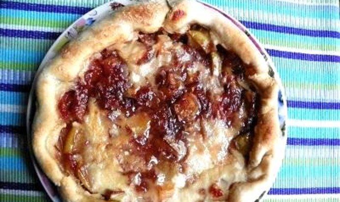Пирог с яблоками и сливами рецепт с