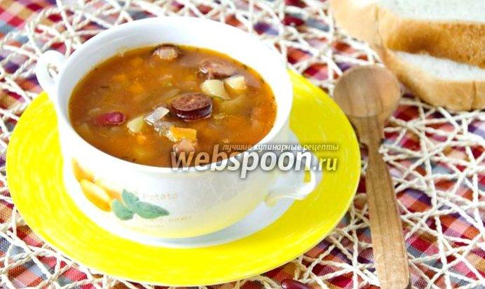 Суп с фасолью и сосисками рецепт