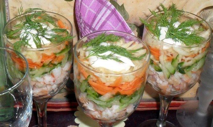 Коктейльные салаты рецепты
