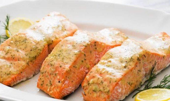 Baked salmon