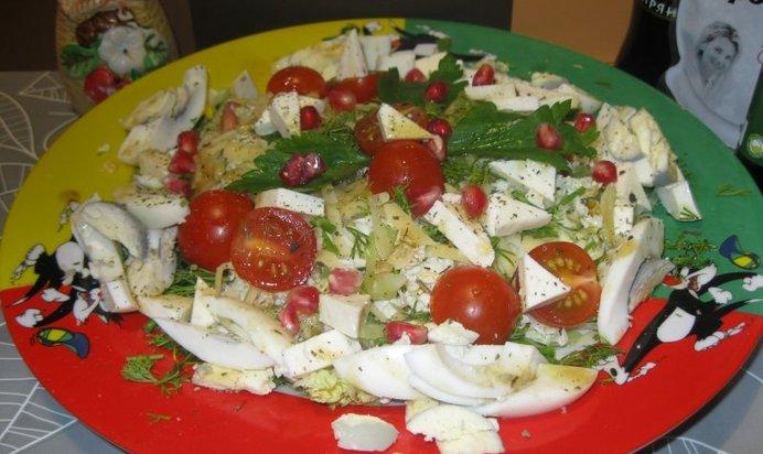Салат с брынзой рецепт пошагово