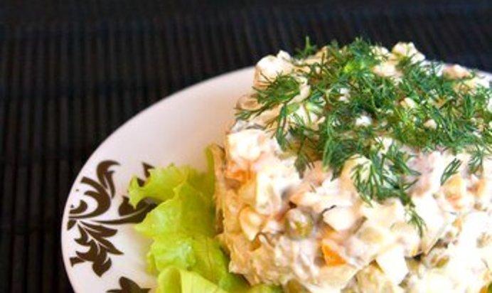 Оливье рецепт с пошагово в домашних