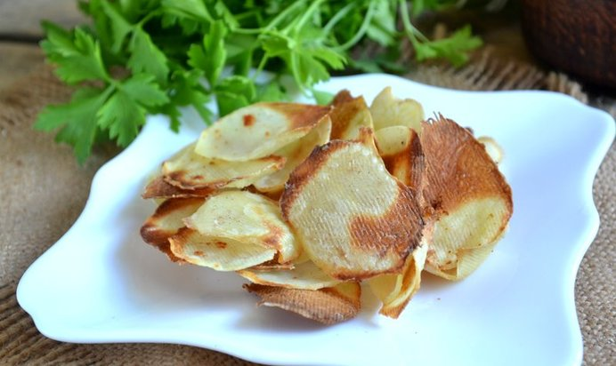 Чипсы в духовке рецепт с фото пошагово