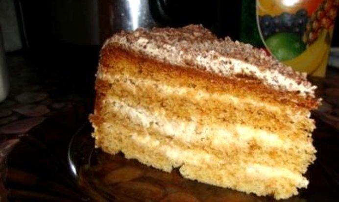 Медовик пирог в мультиварке рецепт