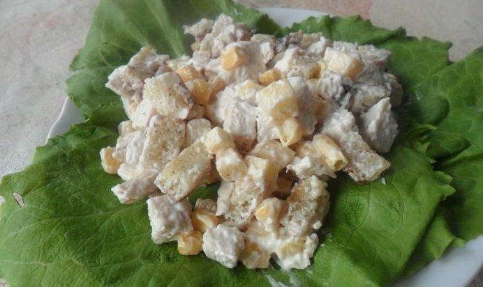 Салат с сухарями рецепт пошагово