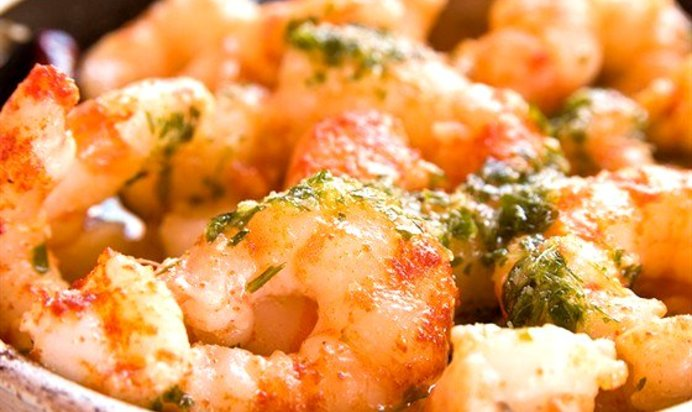 Блюдо с креветками рецепты