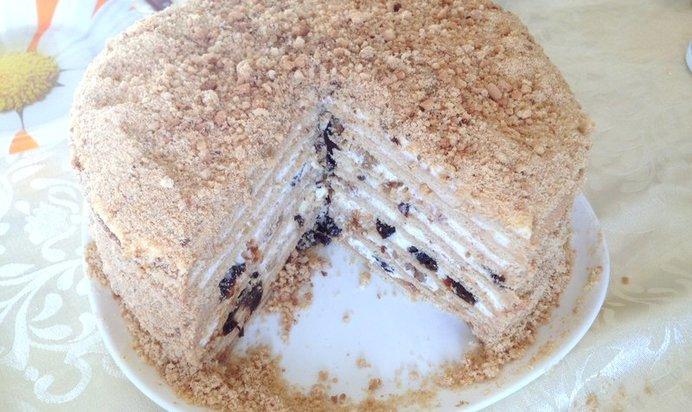 Торт с черносливом пошаговый рецепт с фото