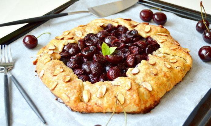 Вишневый пирог открытый рецепт