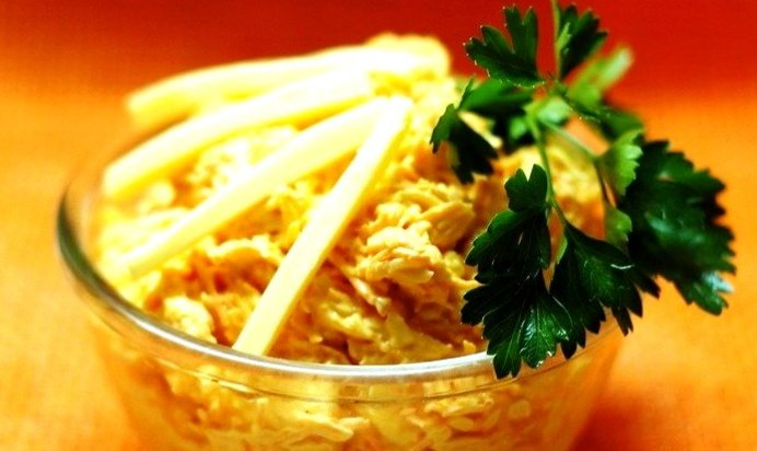 Салат с моркови и сыра рецепт с пошагово