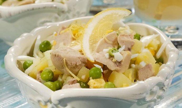 Печень трески салат пошагово