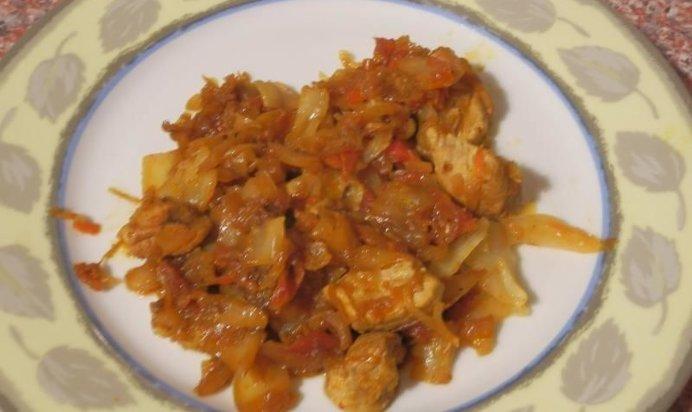 Тушеная капуста с мясом рецепт пошаговый